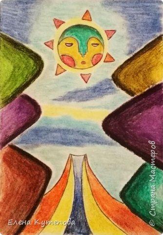 Продолжаю знакомить детей с этно-живописью. В этот раз была Южная Америка, творчество боливийского художника-самоучки Роберто Мамани Мамани из индейцев аймара. фото 1
