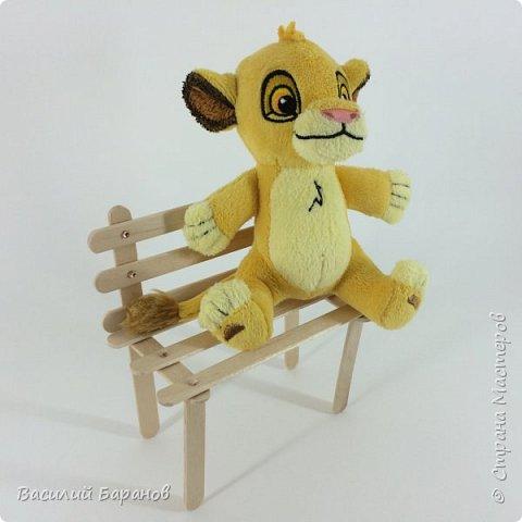 Деревянная лавочка (скамейка) для кукол и игрушек