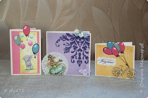 Здравствуйте!! Очень рада всем!!  В сентябре сделала открыточки и хочу показать их вам!)) фото 1