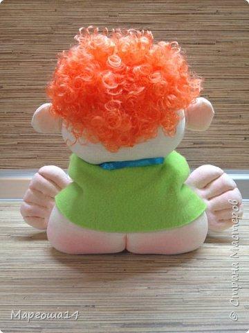 """Здравствуйте,жители Страны Мастеров!!! Сегодня покажу куколок -малышей сшитых из трикотажа .Идею взяла на сайте """"Рукодельные заметки"""". Рост двух малышей 22 см,а третьего - 13 см. Первая куколка - мальчик. фото 3"""