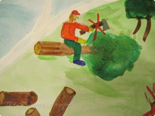 """Всем огромной приветик! Представляю мою первую стенгазету, которую я нарисовала на школьный конкурс. Плакат называется """"Мы за мир"""" На голубом фоне ромашка. Нарисовала на ватмане А1. Использовала акварельные краски, гуашь, акриловые краски, фломастеры и карандаши.  На лепестках всё что угрожает мирной жизни на земле.  фото 6"""