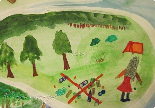 """Всем огромной приветик! Представляю мою первую стенгазету, которую я нарисовала на школьный конкурс. Плакат называется """"Мы за мир"""" На голубом фоне ромашка. Нарисовала на ватмане А1. Использовала акварельные краски, гуашь, акриловые краски, фломастеры и карандаши.  На лепестках всё что угрожает мирной жизни на земле.  фото 8"""