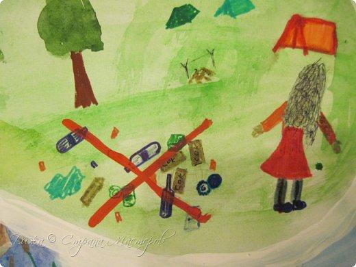 """Всем огромной приветик! Представляю мою первую стенгазету, которую я нарисовала на школьный конкурс. Плакат называется """"Мы за мир"""" На голубом фоне ромашка. Нарисовала на ватмане А1. Использовала акварельные краски, гуашь, акриловые краски, фломастеры и карандаши.  На лепестках всё что угрожает мирной жизни на земле.  фото 9"""