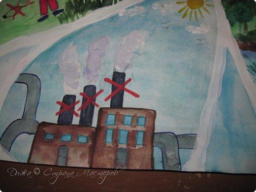 """Всем огромной приветик! Представляю мою первую стенгазету, которую я нарисовала на школьный конкурс. Плакат называется """"Мы за мир"""" На голубом фоне ромашка. Нарисовала на ватмане А1. Использовала акварельные краски, гуашь, акриловые краски, фломастеры и карандаши.  На лепестках всё что угрожает мирной жизни на земле.  фото 11"""