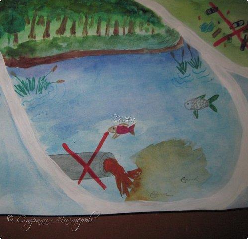 """Всем огромной приветик! Представляю мою первую стенгазету, которую я нарисовала на школьный конкурс. Плакат называется """"Мы за мир"""" На голубом фоне ромашка. Нарисовала на ватмане А1. Использовала акварельные краски, гуашь, акриловые краски, фломастеры и карандаши.  На лепестках всё что угрожает мирной жизни на земле.  фото 13"""