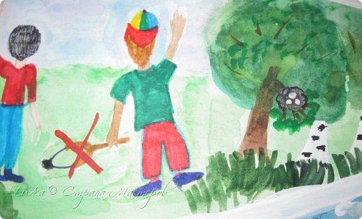 """Всем огромной приветик! Представляю мою первую стенгазету, которую я нарисовала на школьный конкурс. Плакат называется """"Мы за мир"""" На голубом фоне ромашка. Нарисовала на ватмане А1. Использовала акварельные краски, гуашь, акриловые краски, фломастеры и карандаши.  На лепестках всё что угрожает мирной жизни на земле.  фото 16"""