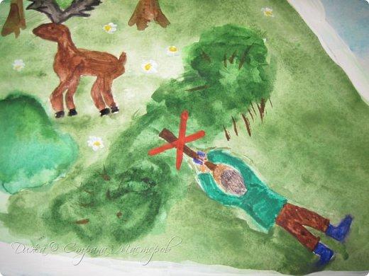 """Всем огромной приветик! Представляю мою первую стенгазету, которую я нарисовала на школьный конкурс. Плакат называется """"Мы за мир"""" На голубом фоне ромашка. Нарисовала на ватмане А1. Использовала акварельные краски, гуашь, акриловые краски, фломастеры и карандаши.  На лепестках всё что угрожает мирной жизни на земле.  фото 18"""