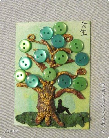 """Всем огромный приветик! Представляю вам АТС карточки """"В тени деревьев"""" дополнительные. Вот и начался учебный год. Я перешла в 5 класс. Учиться здорово, мне очень нравиться! Только времени уже мало для другого.  Дополнительные карточки сделала, чтобы покрыть долги.  Сама серия вот здесь http://stranamasterov.ru/node/1107232   Я должна карточки мастерицам Элайджа http://stranamasterov.ru/user/399311, Torkin (Инна) http://stranamasterov.ru/user/420446 (за """"Барджелло""""), Светик-Светланка http://stranamasterov.ru/user/352718 (за """"Алиса в стране чудес""""),  Светлана Г.З. http://stranamasterov.ru/user/125847  (уже получила карточку), Мария Соколовская  http://stranamasterov.ru/user/346201  (за """"Такие разные женщины"""") прошу их выбирать, если им понравиться.  Скоро выйдет ещё одна серия, тогда и покрою полностью долги (есть ещё мастерицы)  :-)  Для мастерицы  Ольвия - Елена обещала сделать """"Древо мудрости"""". Я помню. Просто в первую очередь хочу отдать долги.   фото 16"""