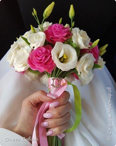 Свадебный букет. Холодный фарфор фото 9