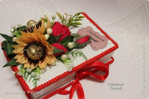 Оформление коробки конфет в виде портфеля. фото 5