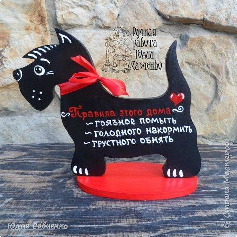 Всем заглянувшим здравствуйте! Небольшая партия собачек и хорошего настроения, ловите!  По процессу работы: заготовки фанера 8 мм,рисую красками акриловыми,лак акриловый Тикурилла. фото 9