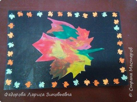 Сегодня на уроке технологии мы делали вот такие осенние листья. Очень любим рисовать пластилином. Вот что у нас получилось. фото 6