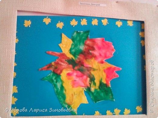 Сегодня на уроке технологии мы делали вот такие осенние листья. Очень любим рисовать пластилином. Вот что у нас получилось. фото 5