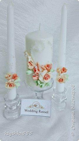 Набор свадебных аксессуаров «Чайная роза». Свадьба — самый волнительный день. В нем все должно быть идеально. Утонченная романтичность чайных роз подчеркнет легкую чувственность этого праздника. фото 9
