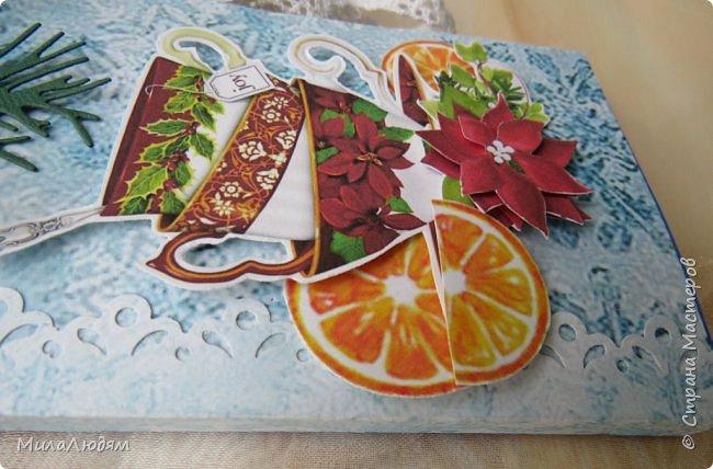"""Люди добрые, простите меня, что не умею загружать мало фото, и мучаю вас большим количеством. Сегодня я к вас со своими первыми шоколадницами созданными для  II ЭТАП """"Открытка-шоколадница""""   http://blog.agiart.ru/2017/10/2.html ТЕМА - Новый год, Рождество, зима ФОРМА - открытка-упаковка для шоколада ОЭ (обязательный элемент) - цвет и фактура плитки шоколада фото 6"""