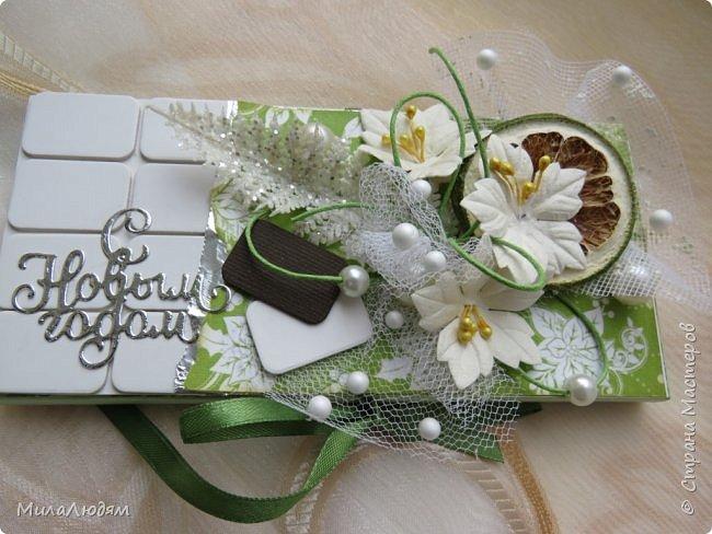 """Люди добрые, простите меня, что не умею загружать мало фото, и мучаю вас большим количеством. Сегодня я к вас со своими первыми шоколадницами созданными для  II ЭТАП """"Открытка-шоколадница""""   http://blog.agiart.ru/2017/10/2.html ТЕМА - Новый год, Рождество, зима ФОРМА - открытка-упаковка для шоколада ОЭ (обязательный элемент) - цвет и фактура плитки шоколада фото 14"""