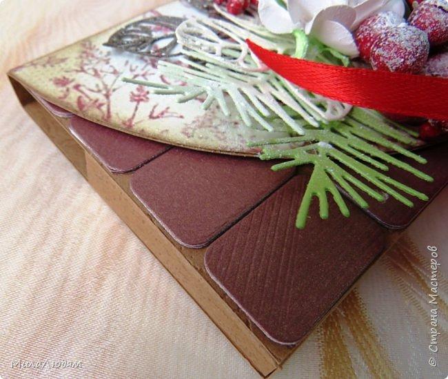 """Люди добрые, простите меня, что не умею загружать мало фото, и мучаю вас большим количеством. Сегодня я к вас со своими первыми шоколадницами созданными для  II ЭТАП """"Открытка-шоколадница""""   http://blog.agiart.ru/2017/10/2.html ТЕМА - Новый год, Рождество, зима ФОРМА - открытка-упаковка для шоколада ОЭ (обязательный элемент) - цвет и фактура плитки шоколада фото 24"""