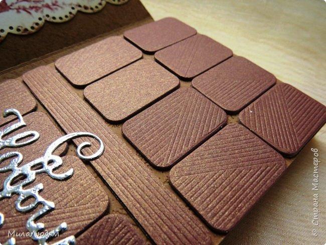 """Люди добрые, простите меня, что не умею загружать мало фото, и мучаю вас большим количеством. Сегодня я к вас со своими первыми шоколадницами созданными для  II ЭТАП """"Открытка-шоколадница""""   http://blog.agiart.ru/2017/10/2.html ТЕМА - Новый год, Рождество, зима ФОРМА - открытка-упаковка для шоколада ОЭ (обязательный элемент) - цвет и фактура плитки шоколада фото 33"""