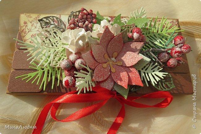 """Люди добрые, простите меня, что не умею загружать мало фото, и мучаю вас большим количеством. Сегодня я к вас со своими первыми шоколадницами созданными для  II ЭТАП """"Открытка-шоколадница""""   http://blog.agiart.ru/2017/10/2.html ТЕМА - Новый год, Рождество, зима ФОРМА - открытка-упаковка для шоколада ОЭ (обязательный элемент) - цвет и фактура плитки шоколада фото 40"""
