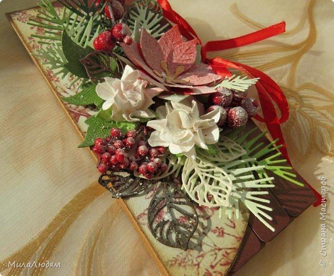 """Люди добрые, простите меня, что не умею загружать мало фото, и мучаю вас большим количеством. Сегодня я к вас со своими первыми шоколадницами созданными для  II ЭТАП """"Открытка-шоколадница""""   http://blog.agiart.ru/2017/10/2.html ТЕМА - Новый год, Рождество, зима ФОРМА - открытка-упаковка для шоколада ОЭ (обязательный элемент) - цвет и фактура плитки шоколада фото 41"""