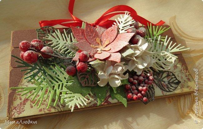 """Люди добрые, простите меня, что не умею загружать мало фото, и мучаю вас большим количеством. Сегодня я к вас со своими первыми шоколадницами созданными для  II ЭТАП """"Открытка-шоколадница""""   http://blog.agiart.ru/2017/10/2.html ТЕМА - Новый год, Рождество, зима ФОРМА - открытка-упаковка для шоколада ОЭ (обязательный элемент) - цвет и фактура плитки шоколада фото 42"""