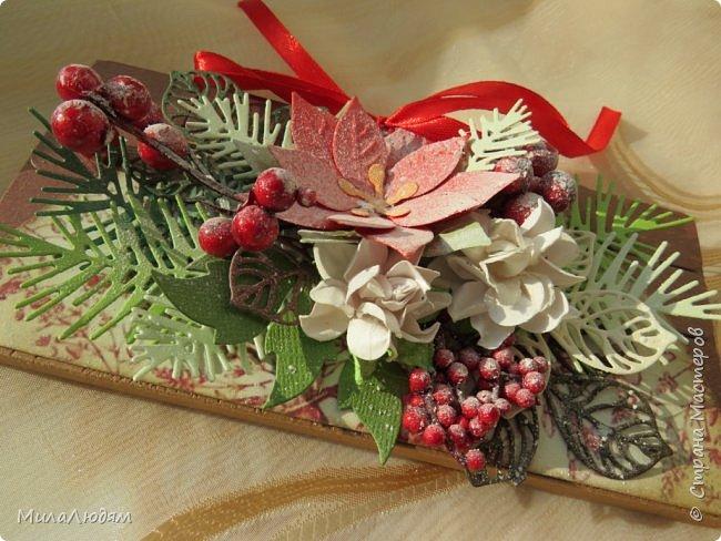 """Люди добрые, простите меня, что не умею загружать мало фото, и мучаю вас большим количеством. Сегодня я к вас со своими первыми шоколадницами созданными для  II ЭТАП """"Открытка-шоколадница""""   http://blog.agiart.ru/2017/10/2.html ТЕМА - Новый год, Рождество, зима ФОРМА - открытка-упаковка для шоколада ОЭ (обязательный элемент) - цвет и фактура плитки шоколада фото 43"""
