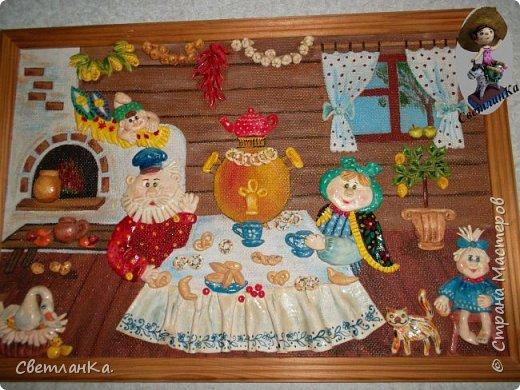 Очень люблю Новый год и Снеговиков. На глаза попалась старая открытка, и вот что получилось. Открытки уже давно нет, а картина который год меня радует.  фото 3