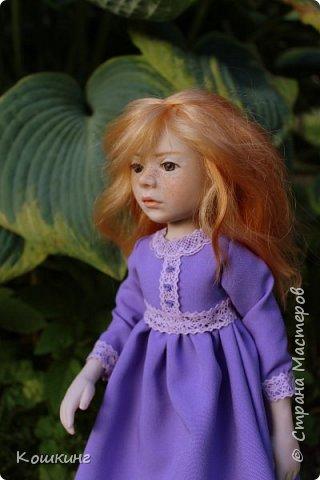 Девочка в сиреневом платье. фото 3