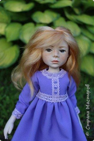 Девочка в сиреневом платье. фото 1