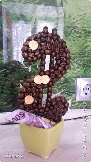 И снова здравствуйте!) На очереди всеми любимый кофе) Объемное сердце, топиарий украшен нежными цветами и бусами.  Ну и букашечками)) куда же без них?)))) фото 4