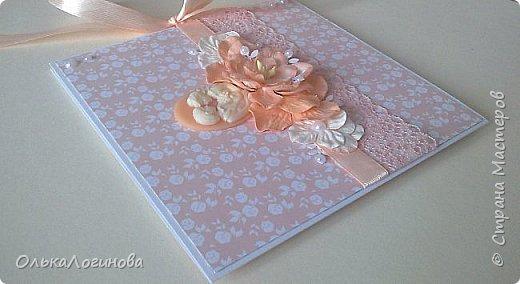 """Доброго дня всем!!!Хочу показать вам свою новую работу-конверт для диска со свадебной фотосессии,или можно использовать как открытку для поздравлений и денежного подарка/сертификата.Для основы использовала акварельную бумагу,верх-бумага для скрапбукинга  15х15 """"Чай vs Кофе"""" от Polkadot (прислали в подарок за заказ в интернет-магазине),бумажные цветы,немного дырокольностей, кружево,атласная лента,полубусины и камея с изображением молодоженов из запасов хомячка)).Внутри-акварельная бумага(кармашки) и однотонная бумага для скрапбукинга.Приглашаю вас к просмотру) фото 7"""