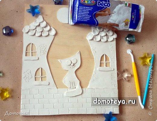 Это повтор моей работы с котиком на крыше, но уже с самозатвердевающей глиной, вместо соленого теста.   фото 2