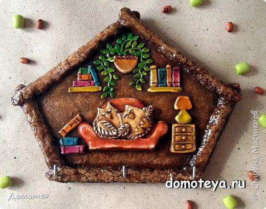 Это повтор моей работы с котиком на крыше, но уже с самозатвердевающей глиной, вместо соленого теста.   фото 3