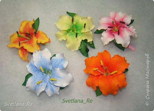 Очень люблю лилии. Решила наделать небольших заколочек)) фото 2