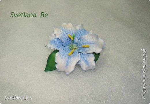Очень люблю лилии. Решила наделать небольших заколочек)) фото 3