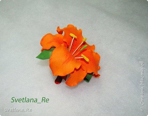 Очень люблю лилии. Решила наделать небольших заколочек)) фото 5