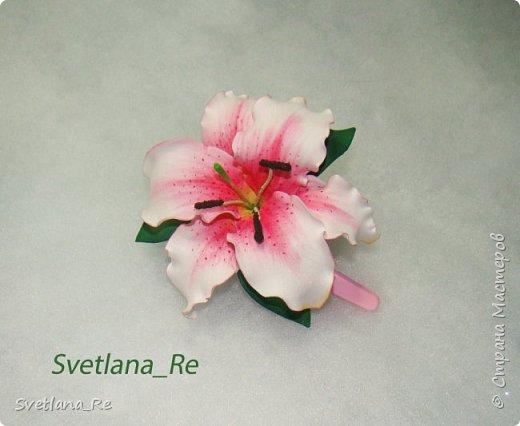 Очень люблю лилии. Решила наделать небольших заколочек)) фото 7