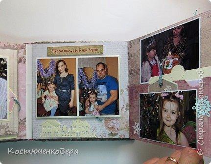 Сделала юбилейный семейный альбом. Фотографии о жизни за 10 лет.  Использовала элементы поп ап. фото 15