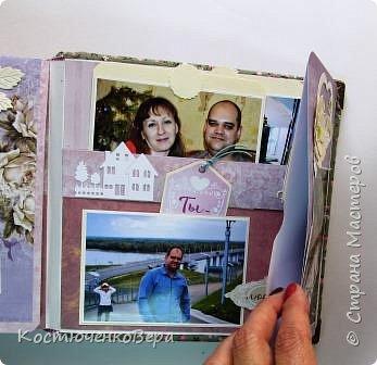 Сделала юбилейный семейный альбом. Фотографии о жизни за 10 лет.  Использовала элементы поп ап. фото 21