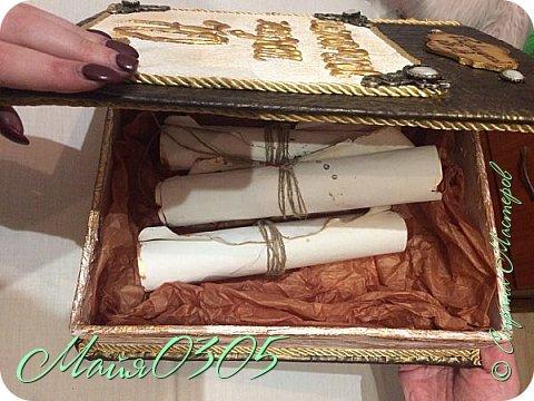 Шкатулочка для юбиляра . 70 лет . Шкатулка для мемуаров. фото 4