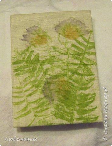 """Всем большущий привет! Представляю вам очередную серию АТС карточек """"Зелёные силуэты"""".  Техника оттиск (отпечаток) растений на ткани. Идею я  увидела в интеренете  Можете выбирать понравившуюся карточку, но хочу предупредить, тем кому я должна АТС карточки будет отдаваться приоритет.  фото 22"""