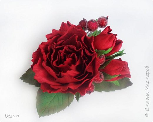 Брошь с розами фото 1