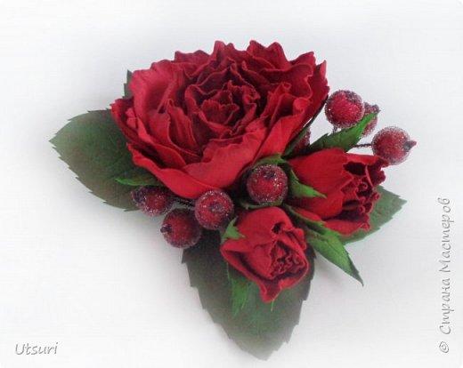 Брошь с розами фото 2
