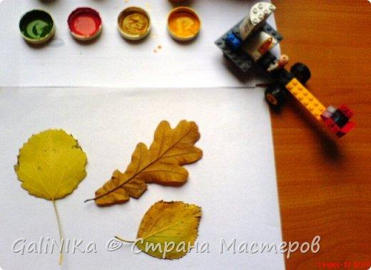 На этой неделе нашлось занятие для моего трёхлетнего внука.  Мы печатаем листья! фото 14