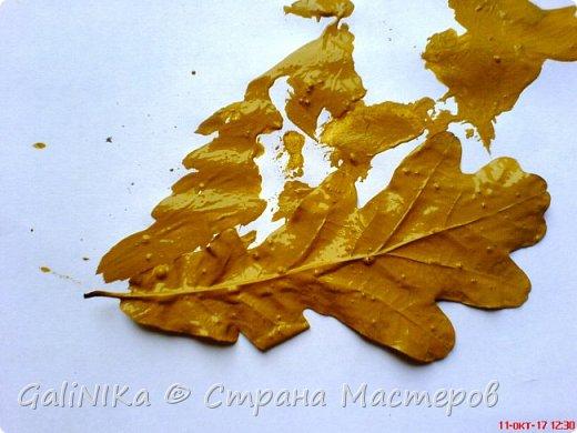 На этой неделе нашлось занятие для моего трёхлетнего внука.  Мы печатаем листья! фото 15