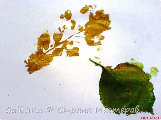 На этой неделе нашлось занятие для моего трёхлетнего внука.  Мы печатаем листья! фото 17