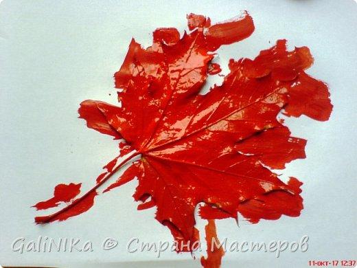 На этой неделе нашлось занятие для моего трёхлетнего внука.  Мы печатаем листья! фото 18