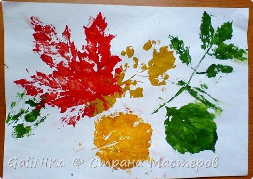На этой неделе нашлось занятие для моего трёхлетнего внука.  Мы печатаем листья! фото 22