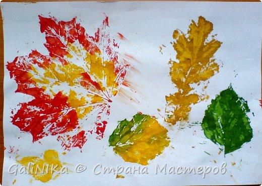 На этой неделе нашлось занятие для моего трёхлетнего внука.  Мы печатаем листья! фото 25