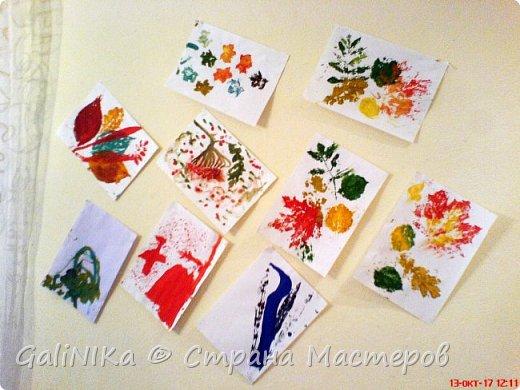 На этой неделе нашлось занятие для моего трёхлетнего внука.  Мы печатаем листья! фото 38